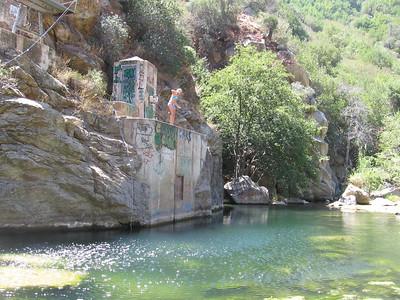 Matilija lower dam area 08-19-2007