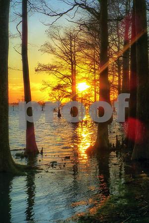 Sunset Osprey Point January, 2015