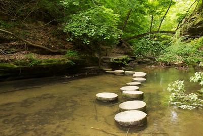 Stepping stones. Upper Dells, Matthiessen State Park, Illinois.
