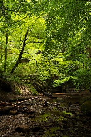 Stairway to Cedar Point. Upper Dells, Matthiessen State Park, Illinois