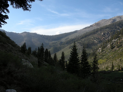 Looking north to Timber Gap, from near Eagle Lake trailhead.
