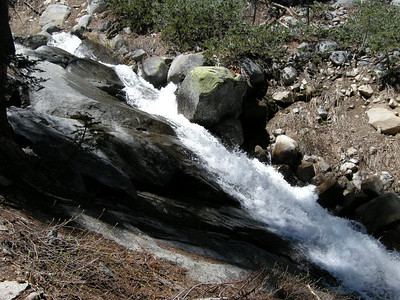Cascades of Mosquito Creek, just above where it crosses the trail from Mineral King to Hockett Meadows.