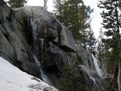 "With all the snow-melt, there were lots of cascades everywhere. This area is just below Lake #2 (WL9586T on 7.5"" topo.)"