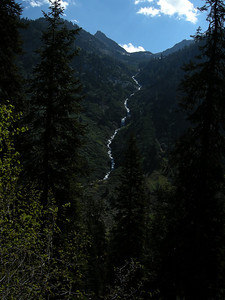 This photo and the following two are of Crystal Creek descending from Crystal Lakes, as seen when looking east from the Eagle Lake trail.
