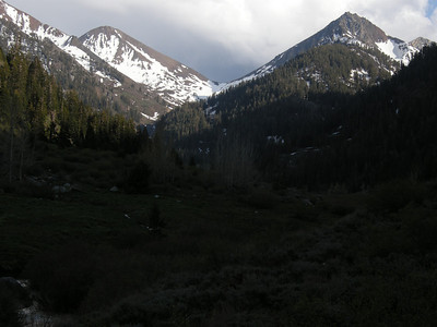 Looking south to Farewell Gap from Eagle Lake trailhead.