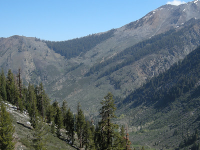 Looking back to north towards Timber Gap, from middle section of Eagle Lake trail after it forks off from the White Chief trail.