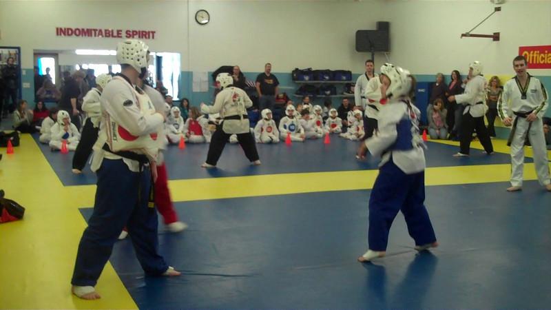 TaeKwonDo sparring - Black Belt tip testing.