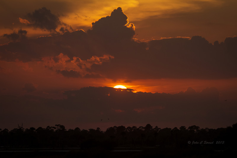 Appropriate sunset for an awesome day of shooting at Viera Wetlands!!