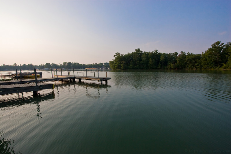 A quiet morning on the Chain of Lakes in Waupaca, Wisconsin.