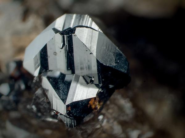 Cassiterite (Sugarloaf Mountain, Bethlehem, NH; ~0.5 cm)