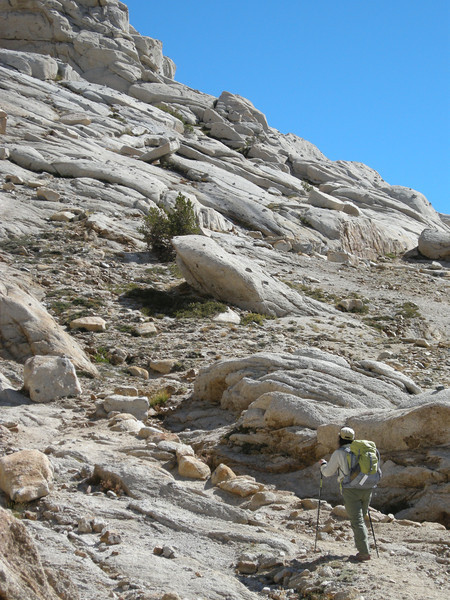 The Franklin Pass trail is unrelenting in its ascent.