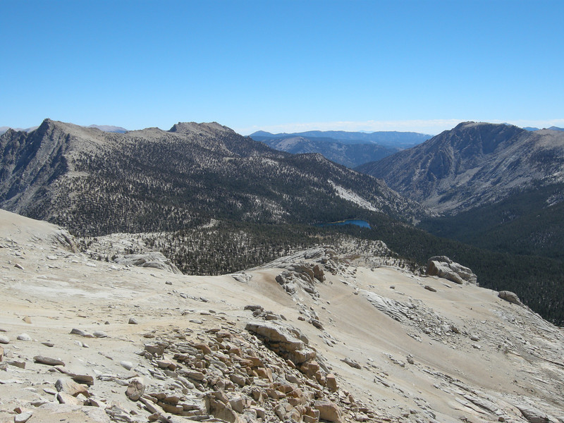 Traces of the Franklin Pass trail can be seen across some of the sandy slopes.