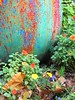 Multi-colored pot and flowers, Grounds for Sculpture, New Jersey