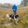 Lynda and Pup in full conditions - N Woods Tetonia