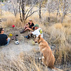 Celebrating Pups life & final resting place below our house, with Keri, Jimmy, Lynda and Paco.