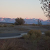 Moab Utah AMGA Meetings October-November 2009 - Alpenglow on LaSalle Mountains From Canyonlands Airport