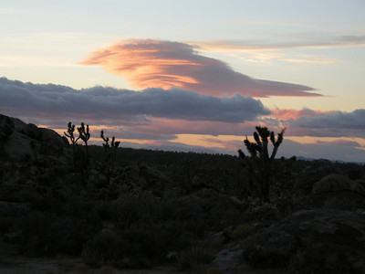 Lenticular clouds: weather change on the way.