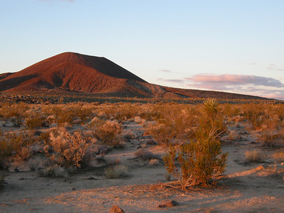 The orange light of the approaching sunset accentuated the orange color of the cinder cones.