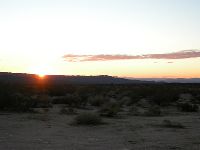 Sunset over the Mojave.