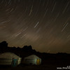 Gers (aka yurts) and star trails, Gobi Desert, Mongolia