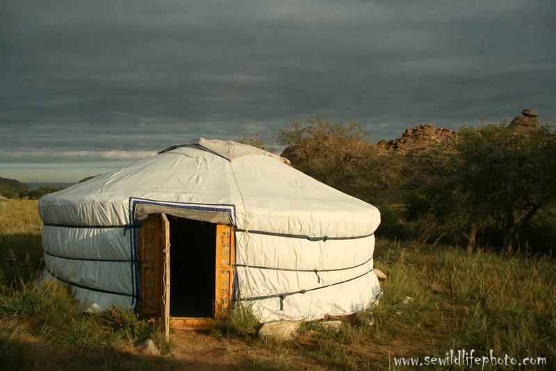 Ger in Ikh Nart Nature Reserve, Mongolia