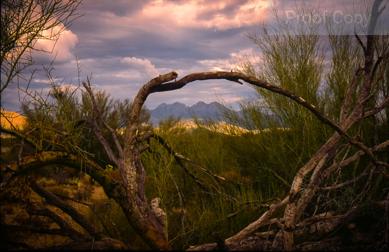 Storm Clouds and Four Peaks