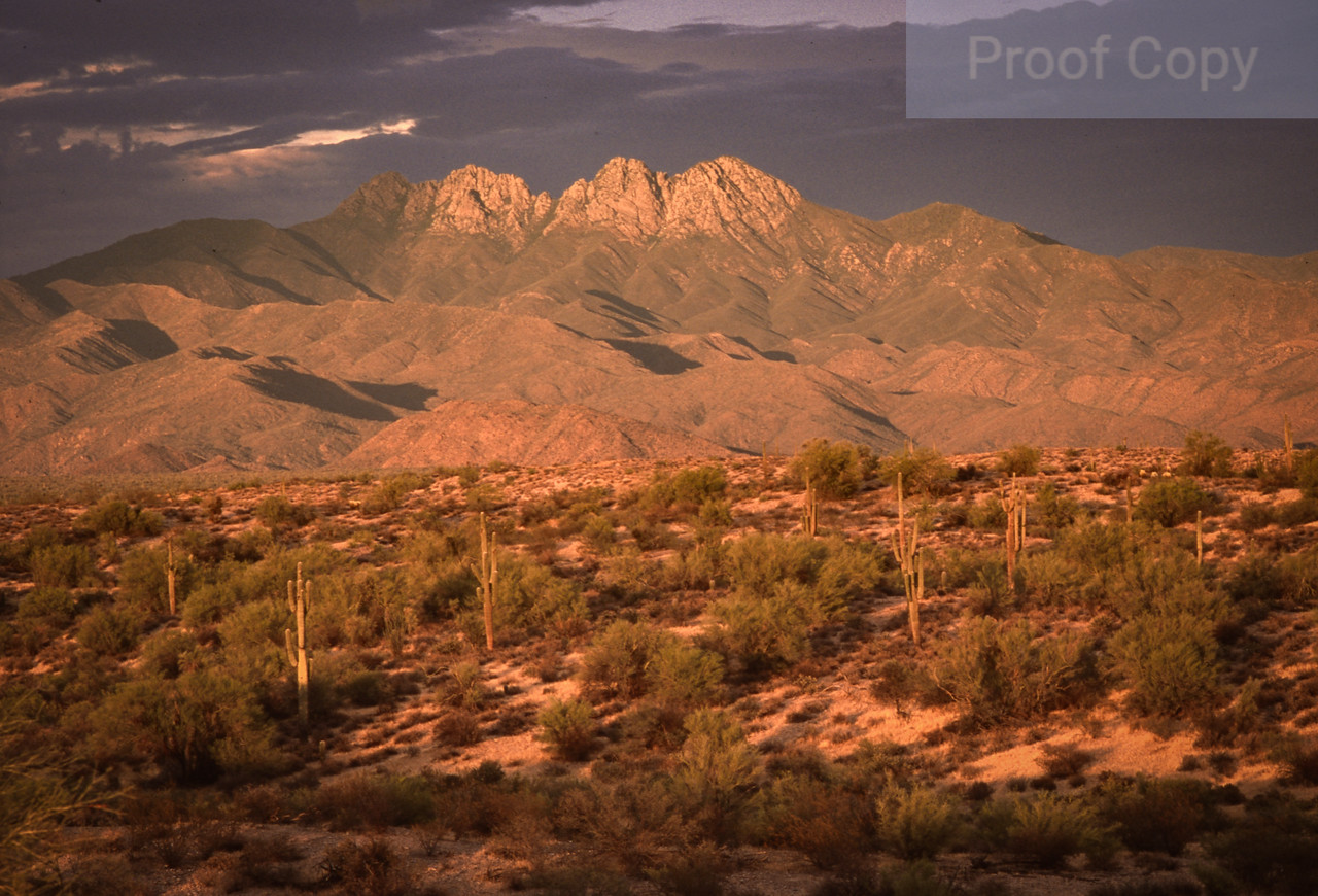 Four Peaks and Storm Clouds
