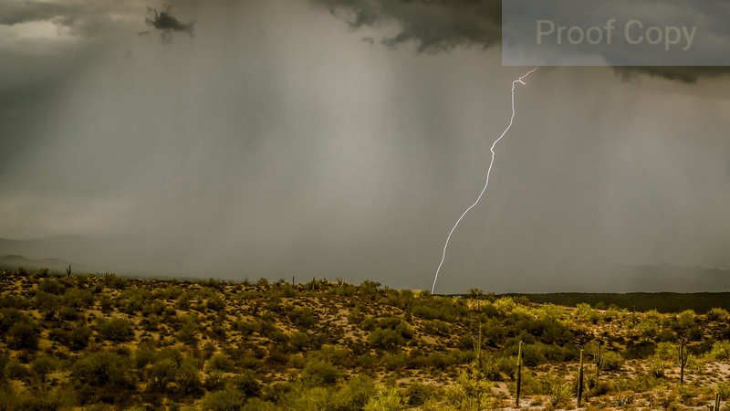 One Lone Daylight Strike-North of Fountain Hills