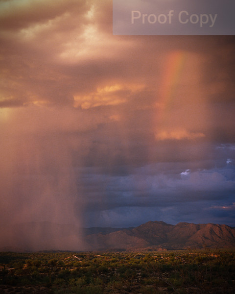 Rain Shaft With Rainbow