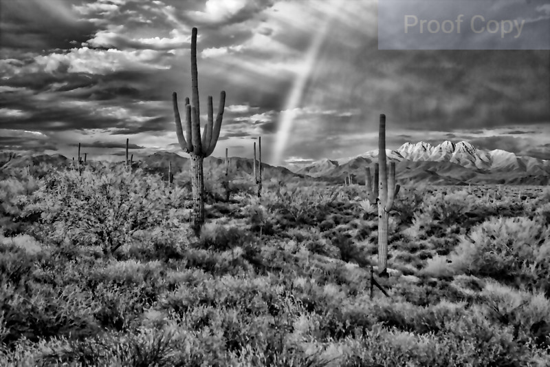 Infrared Rainbow Over Four Peaks