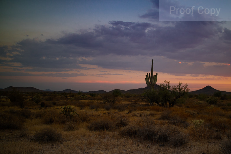 Arizona Summer Monsoon Sunset 4
