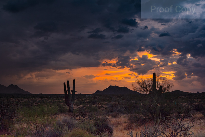 Arizona Summer Monsoon Sunset 3
