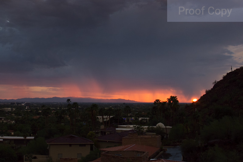 Sunset Storm Over Central Phoenix