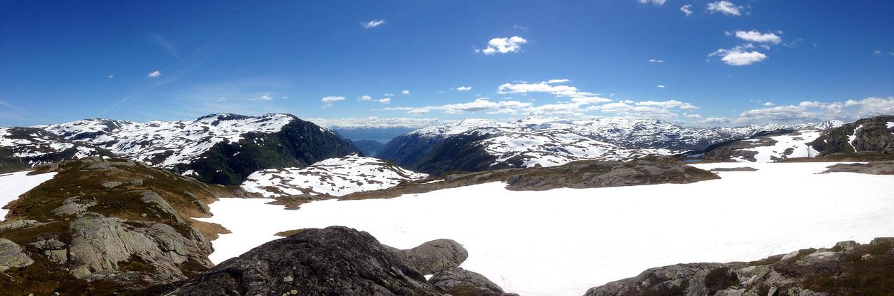 Panorama over Løkjedalen, frå Sveindalsnuten