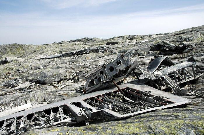 Tysk flyvrak på Kvitanåse.. Fly from 2 world war..
