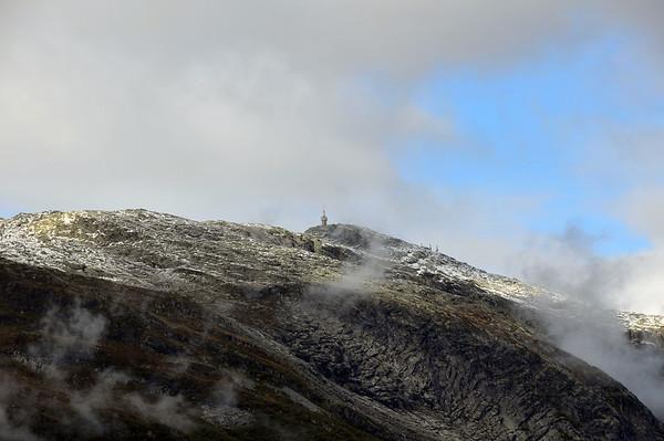 Fyrste snøen på Lønahorgi 15.09.2010