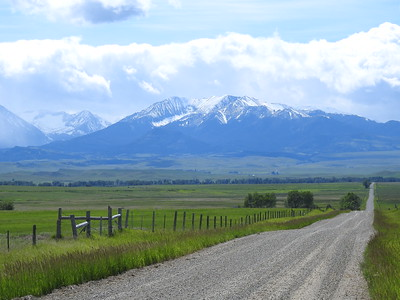 Along Cremer Rd east of Melville, MT