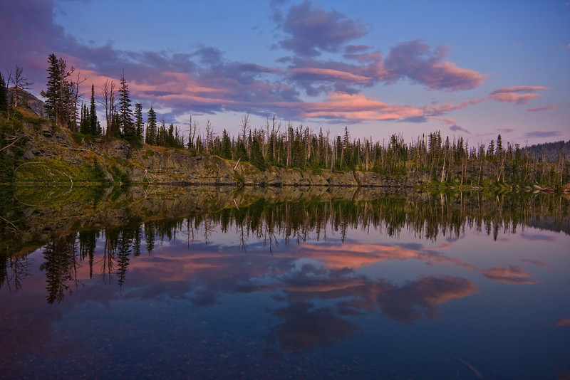 Sunset at Sapphire Lake, Bob Marshall Wilderness, MT