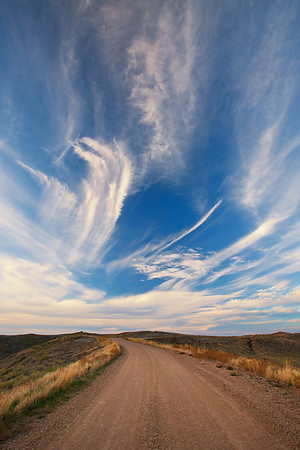 Big Sky and Country Road, C.M. Russell National Wildlife Reserve
