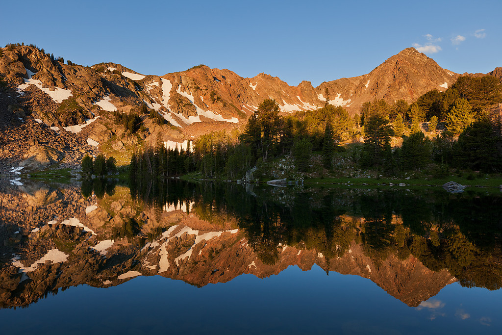 Blue Paradise Lake Reflections, Hilgard Basin,Lee Metcalf Wilderness, MT