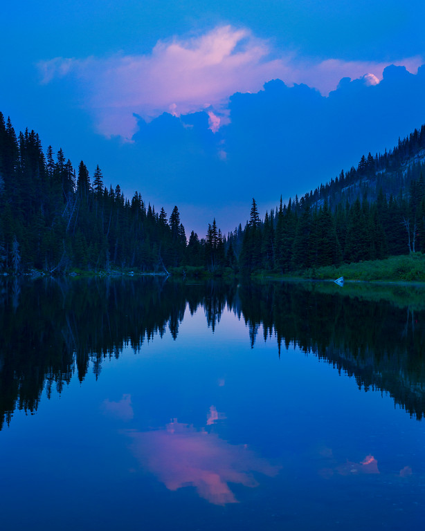 Mirror Lake at Dusk, Lee Metcalf Wilderness, Spanish Peaks Unit, Montana