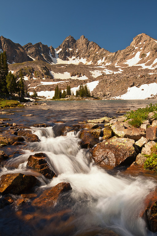 Hilgard Lake Outlet and Hilgard Peak, South Hilgard Basin,Lee Metcalf Wilderness, MT