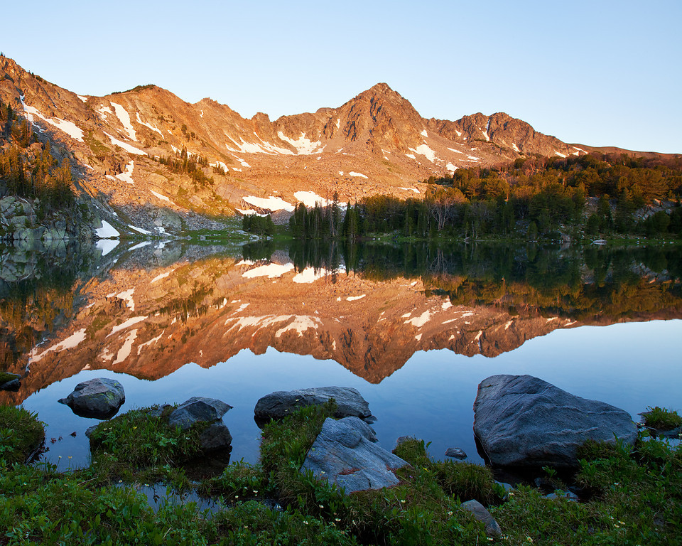 Blue Paradise Lake, south Hilgard Basin, Lee Metcalf Wilderness, MT