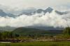 Absaroka Mts loom above the Paradise Valley