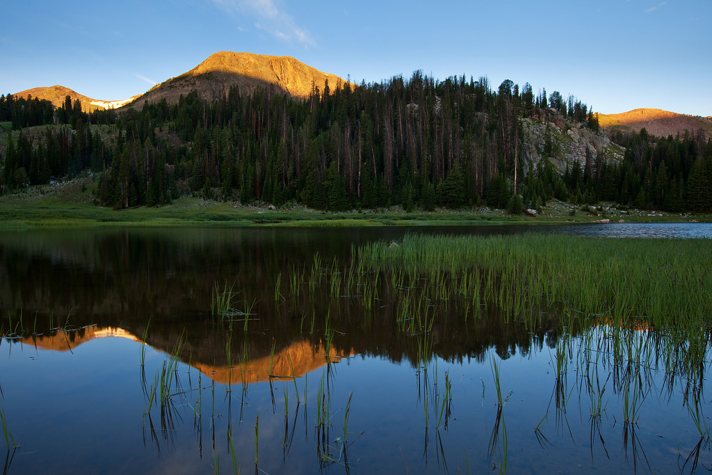 Reflected Alpenglow<br /> Lake Columbine, Absaroka-Beartooth Wilderness
