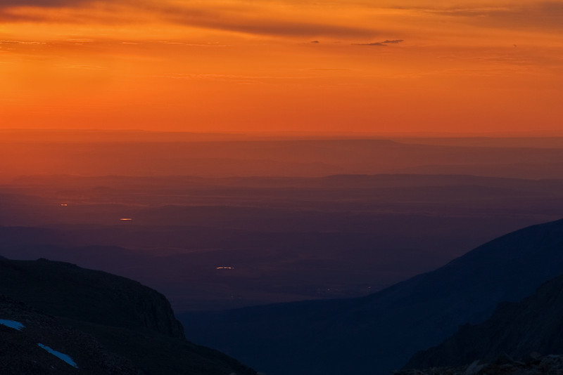 Sunrise from Froze-to-Death Plateau<br /> Elev. 12,000 ft.  Absaroka-Beartooth Wilderness, MT