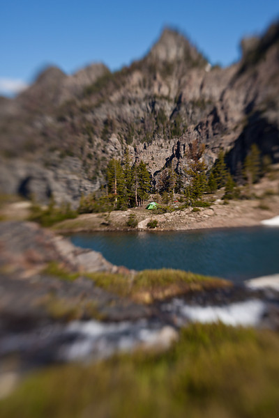 Camp Below Pine Creek Lake (Lensbaby)<br /> Absaroka-Beartooth Wilderness, Montana