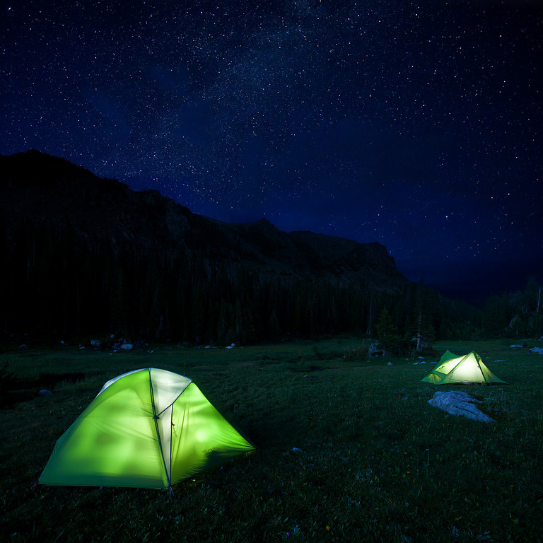 Open Skies - camping at Horseshoe Lake, Absaroka-Beartooth Wilderness, MT