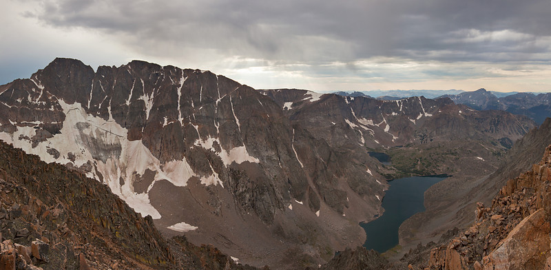 Panorama of Granite Peak's East Face, Absaroka-Beartooth Wilderness, MT