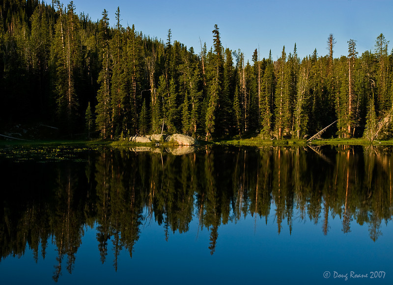 Reflections in an Unnamed Mountain Lake #1.  Beartooth Mountains